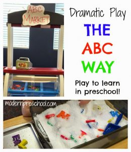 Dramatic Play In Preschool:  Welcome to the ABC Market!
