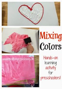 Mixing Colors:  Making PINK!