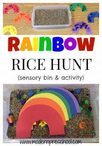ACTIVITY:  Rainbow Rice Hunt!