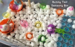 Bunny {tail} Sensory Bin for Preschool