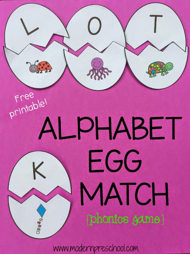 Initial Sound Egg Alphabet Matching Game