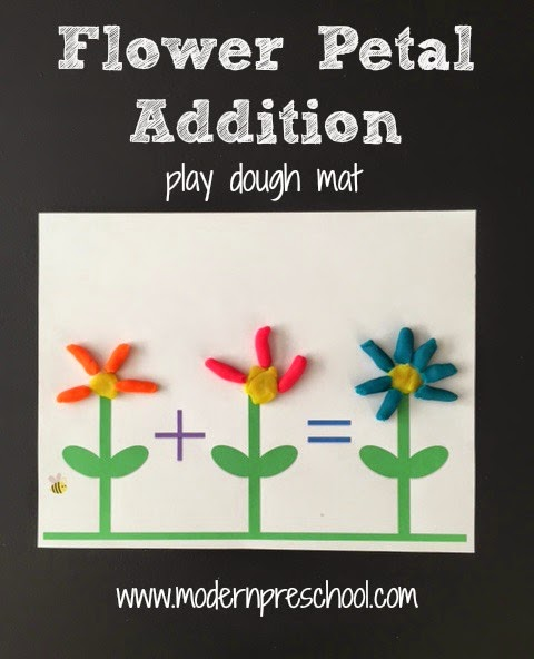 Spring Flower Play Dough Mat Activity