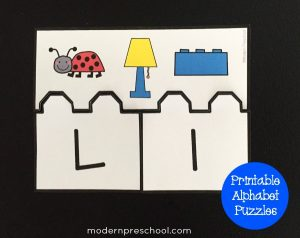 Initial Sounds Alphabet Puzzles for Preschool & Kindergarten {free printable!}