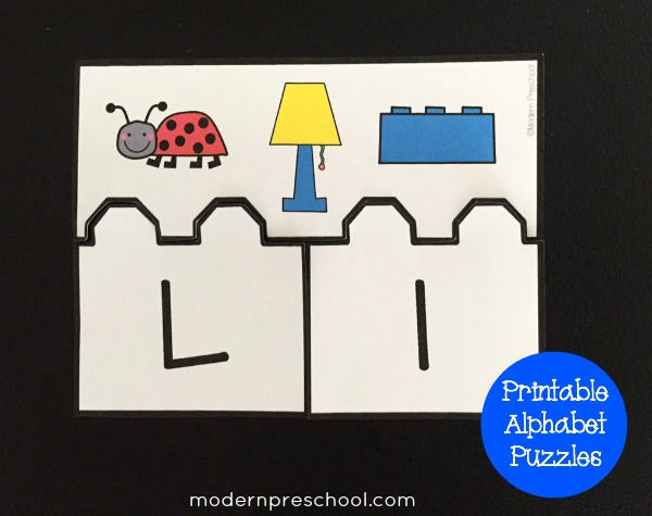 alphabet initial sounds printable puzzles for preschool and kindergarten from Modern Preschool