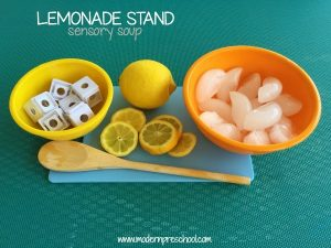 LEMONADE STAND (water sensory play}