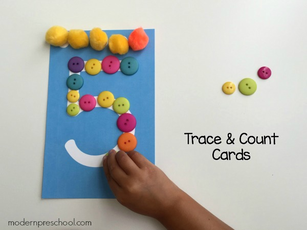 Preschool Trace & Count Number Cards {free printable!}