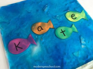 Ocean Name Recognition Sensory Bag
