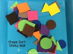 Shape Sort Sticky Wall