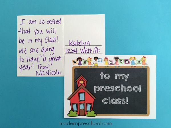 Free printable welcome postcards for preschool & kindergarten teachers | Modern Preschool