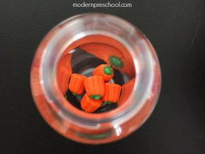 Five Little Pumpkins Sensory Bottle