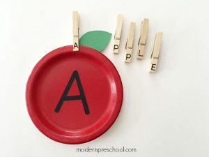 Apple Stem Letter Matching