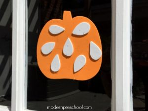 Pumpkin Seed {reusable} Window Stickers