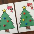 Free printable Christmas tree counting number cards for preschoolers and kindergarteners! Practice numbers, fine motor skills, math, and even science!