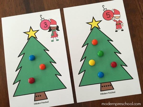 Christmas Tree Counting Number Cards