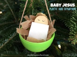 Baby Jesus Ornament Inspired by Silent Night