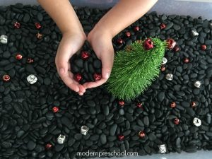 Jingle Bell Rock Sensory Bin
