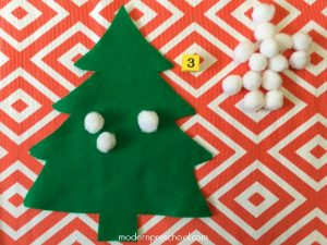 Snowball Counting Trees Busy Bag