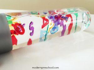 Rainbow Alphabet Sensory Bottle