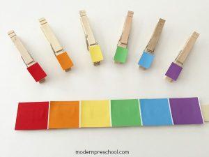Rainbow Paint Chip Color Match