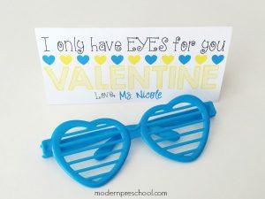Simple Sunglasses Printable Valentine