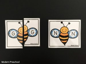 Bumble Bee Alphabet Match
