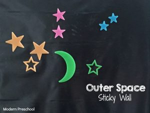 Stars in Outer Space Sticky Wall