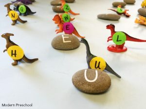 Dinosaur Egg Alphabet Match