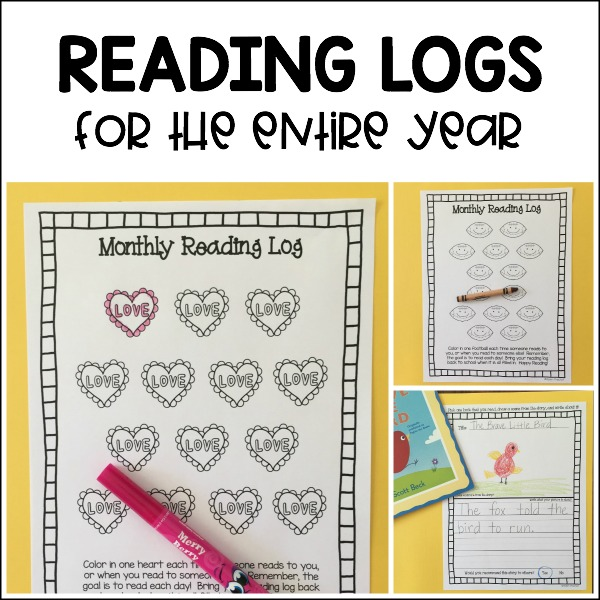 monthly reading logs for home parent letter journal themed monthly reading logs modern preschool 884