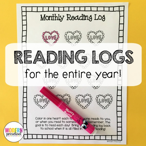 monthly reading logs for home parent letter journal monthly reading logs modern preschool 313
