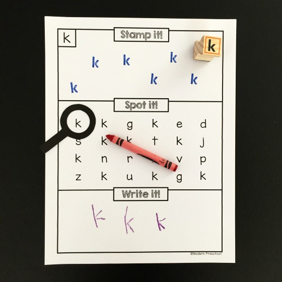 Alphabet Stamp - Spot - Write It - Modern Preschool