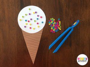 Fine Motor Ice Cream Cone