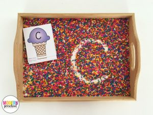 Ice Cream & Sprinkles Alphabet Writing Practice