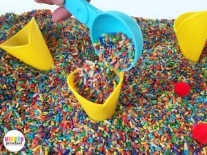 Ice Cream Toppings Sensory Bin