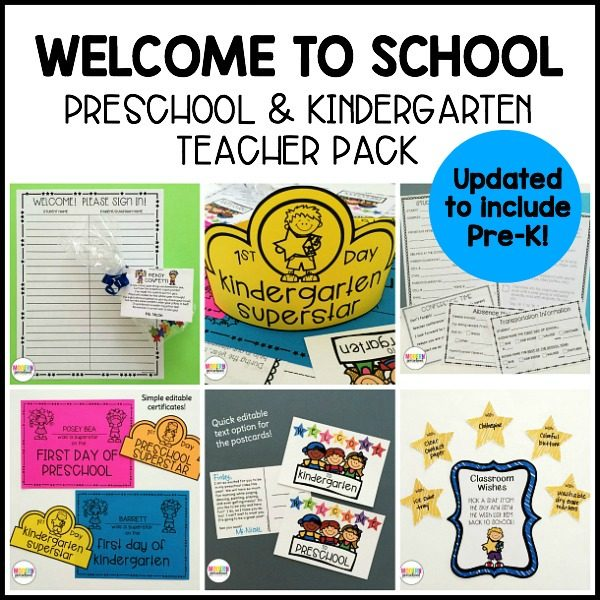 Grab this EDITABLE Welcome to School printable pack for preschool & kindergarten teachers to make the first day and orientation stress free!