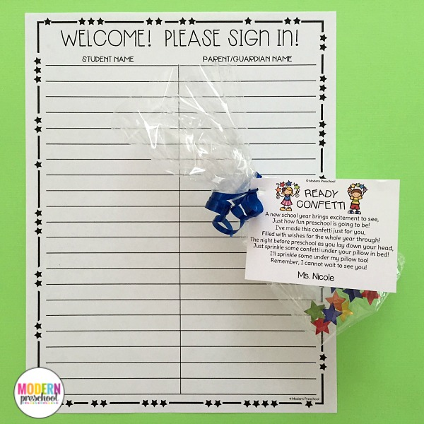 Our EDITABLE Welcome to School pack is perfect for preschool & kindergarten teachers! The printable pack includes first day of school certificates, crowns, welcome postcards, orientation forms, cute wish list, and ready confetti poem. Easily edited for quick prep!