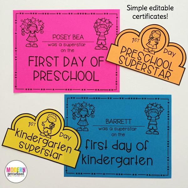 photo about First Day of Preschool Free Printable called EDITABLE Welcome In the direction of Faculty Pack for Preschool, Pre-K, Kindergarten