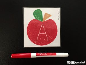 Tracing Letters Printable Apples