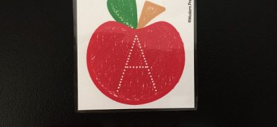 Free tracing letters printable apple cards for preschoolers and kindergarteners to practice alphabet recognition and formation!