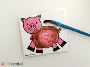 Clean the Muddy Pigs Alphabet Printable Cards