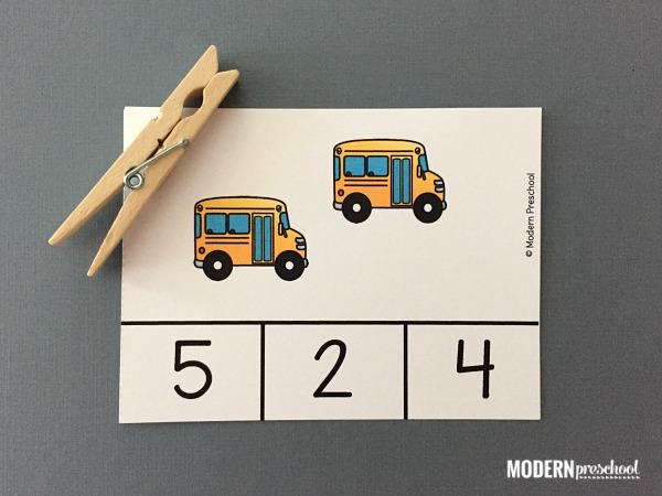 Community Helper Vehicles Count & Clip Cards