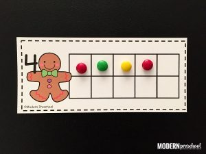 Gingerbread 10 Frame Counting Mats