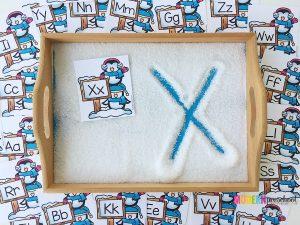 Snowy Day Alphabet Writing Tray