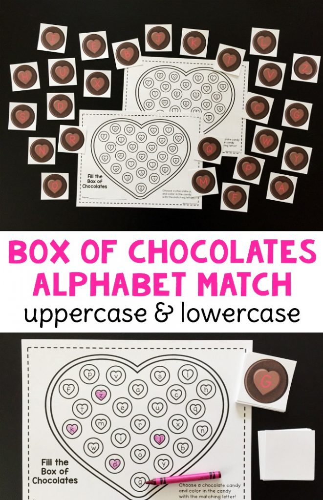 box letter alphabet box of chocolates alphabet match 210