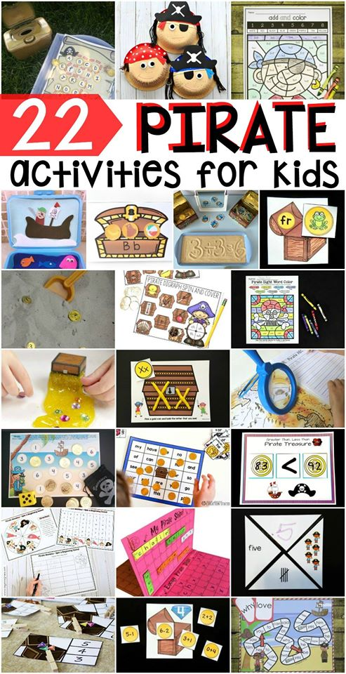 22 ultimate pirate themed activities for preschoolers and kindergarteners