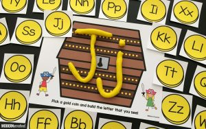 Pirate Alphabet Play Dough Mats