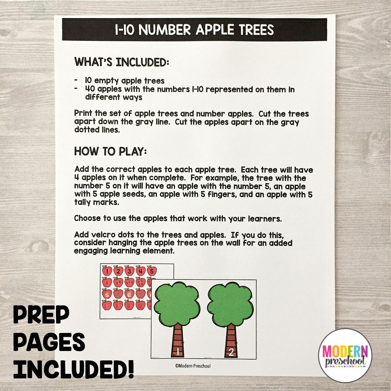 apples literacy u0026 math centers modern preschool