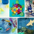 24 awesome OCEAN ACTIVITIES that include science, crafts, sensory play, play dough, fine motor and more for preschool & kindergarten!