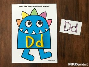 Monster Alphabet Play Dough Mats
