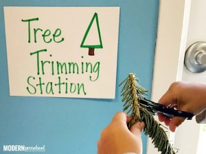 Christmas Tree Trimming Fine Motor Sensory Bin