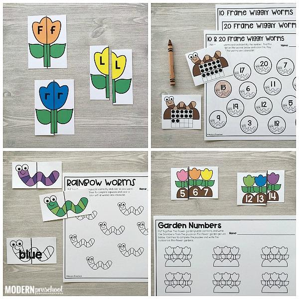 GARDEN Literacy & Math Centers for Spring - Modern Preschool